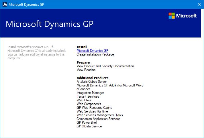 GP setup utility
