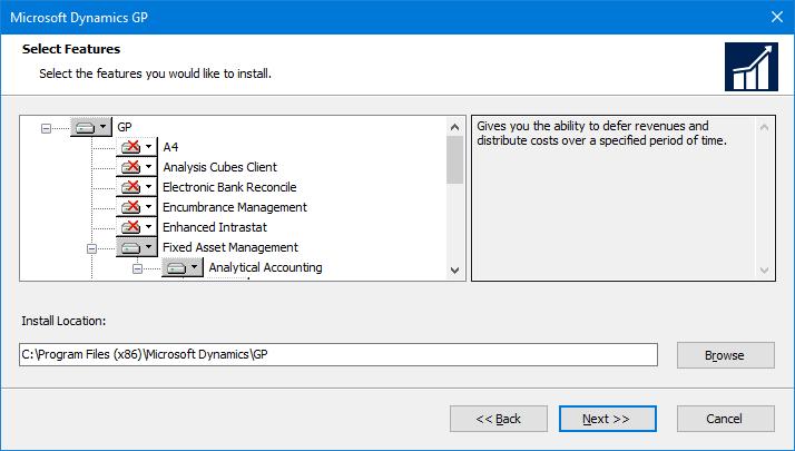 Microsoft Dynamics GP - Select Features