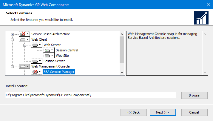 Microsoft Dynamics GP Web Components: Select Features