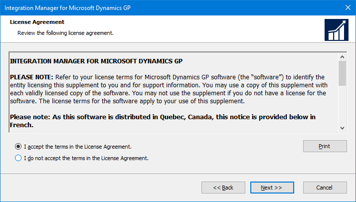 Integration Manager for Microsoft Dynamics GP: License Agreement