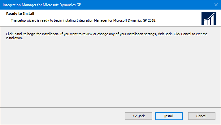 Integration Manager for Microsoft Dynamics GP: Ready to Install