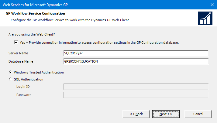 Web Services for Microsoft Dynamics GP: GP Workflow Service Configuration
