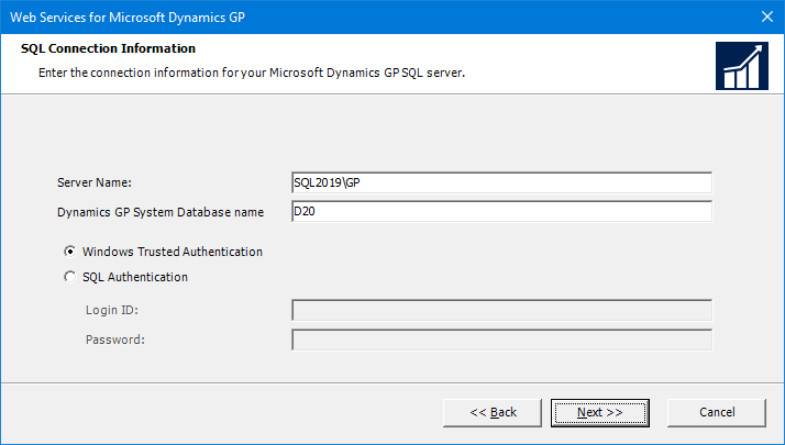 Web Services for Microsoft Dynamics GP: SQL Connection Information