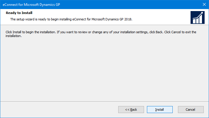 eConnect for Microsoft Dynamics GP: Ready to Install